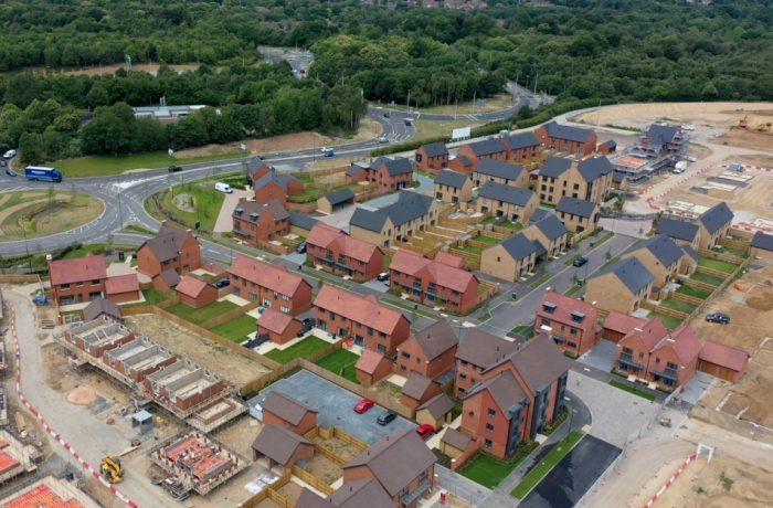 Aerial view of the Woodgate development